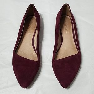 Madewell Mira Suede Flats - 7.5